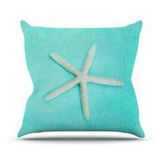 """Sylvia Cook """"Starfish"""" Throw Pillow"""