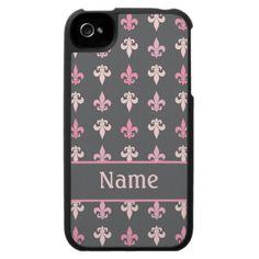 Personalized Fleur de Lis 4G iPhone Speck Case