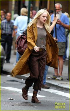 Emma Stone Gets Into Character on Netflix's 'Maniac' Set
