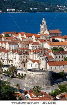 Old medieval town Korcula -   Croatia, Dalmatia