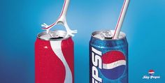 This image is telling its audience that they would much rather drink Pepsi products over any other soda products. It is doing this through visual persuasion by showing an image of a straw rejecting any other product that isn't Pepsi. Creative Advertising, Funny Advertising, Funny Ads, Advertising Design, Marketing And Advertising, Advertising Ideas, Advertising Campaign, Marketing Tools, Funny Pranks