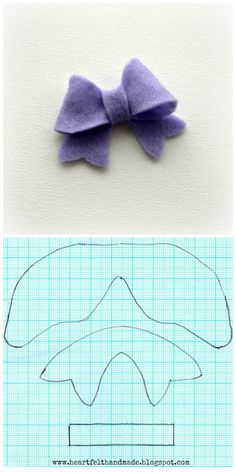 Heartfelt Handmade's Blog: Felt Bow Template
