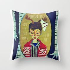 Sugar We're Going Down. Throw Pillow by Bethany Grace - $20.00
