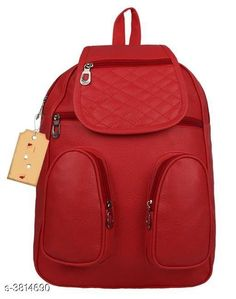 Checkout this latest Backpacks Product Name: *Elegant PU Women's Backpack* Material: PU No. of Compartments: 1 Pattern: Textured Multipack: 1 Sizes: Free Size Easy Returns Available In Case Of Any Issue   Catalog Rating: ★4.2 (485)  Catalog Name: Lovely Elegant PU Women's Backpacks Vol 5 CatalogID_535223 C73-SC1074 Code: 992-3814690-546
