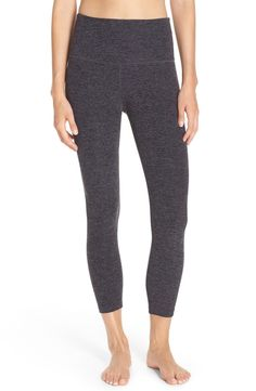 Soft space-dyed knitting gives excellent yoga-worthy stretch to these leggings that are also cute enough for the juice bar afterwards.