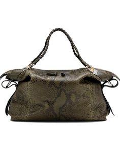 Gucci bamboo bar large shoulder bag green - $399
