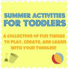 summer toddler activities