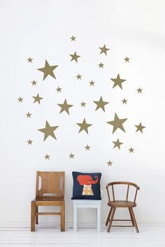 Stars Kid's Wallsticker in Gold design by Ferm Living