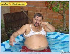 Eu de zueira na piscina