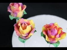 How To Make Rose Cake Pops Using Modeling Chocolate - YouTube