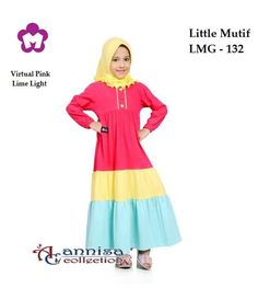 Longdress Gamis Anak Little Mutif 132 Virtual Pink Girls Party Dress, Girls Dresses, Dress Anak, Baby Girl Dress Patterns, Batik Dress, Kids Fashion, Womens Fashion, Hijab Outfit, Toddler Dress