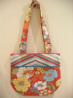 The Piping and Stripe(ing) Shoulder Bag Tutorial will help you create a lovely bag that will impress everyone.