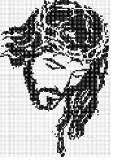 cristo Beaded Cross Stitch, Cross Stitch Embroidery, Cross Stitch Patterns, Perler Bead Art, Perler Beads, Religious Cross, Bead Loom Bracelets, Filet Crochet, Loom Beading