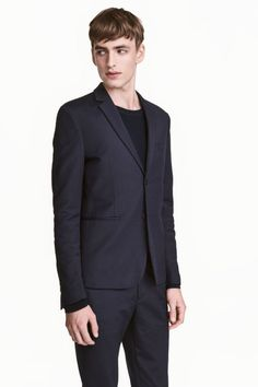 Textured jacket Slim fit