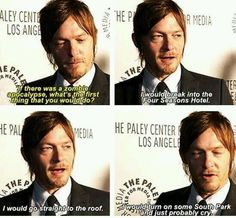 @Bubs_27 I'm like you & resentful about bad stuff..but a Reedus dose and everything is OK hummm I'll cry with him pic.twitter.com/VrkN4ue2xx