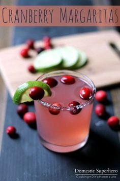Easy Cranberry Margaritas
