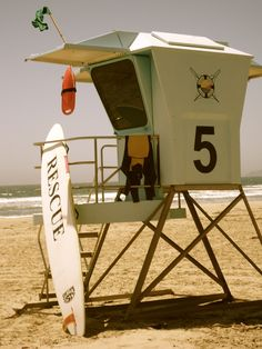 Lifeguard station in Pismo Beach