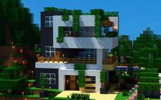 minecraft modern housemodern house in minecraft pictures Video Minecraft, Minecraft City, Minecraft Plans, Minecraft Construction, How To Play Minecraft, Minecraft Projects, Minecraft Stuff, Minecraft Pictures, Minecraft Jungle House
