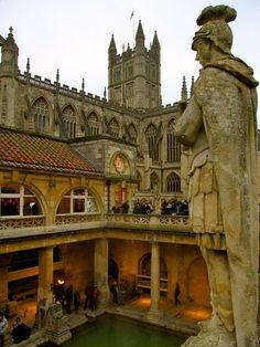 Roman Baths, Bath, England.
