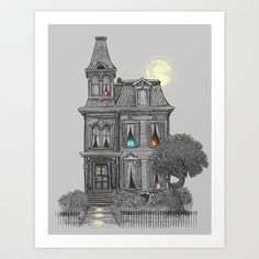 TOO cute....Haunted by the 80's Art Print by Terry Fan - $18.00