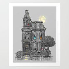 Haunted by the 80's Art Print by Terry Fan - $18.00. He's got a lot of fun art!