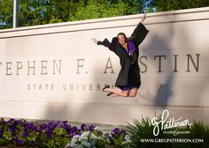 college graduation portrait by greg patterson nacogdoches photography seniors SFA grad photo #gpattstudio SFASU #soworthit nacogdoches photographer etx east texas photographer senior portraits college senior photos outdoor spring campus photos Stephen F Austin