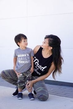 mommy and me outfits, boy mom fashion, mom style, athleisure, camo joggers, joggers