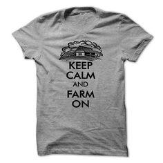 Keep Calm And Farm On - #grafic tee #estampadas sweatshirt. MORE INFO => https://www.sunfrog.com/LifeStyle/Keep-Calm-And-Farm-On-18097205-Guys.html?68278