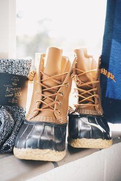 bean boots + j.crew camp socks