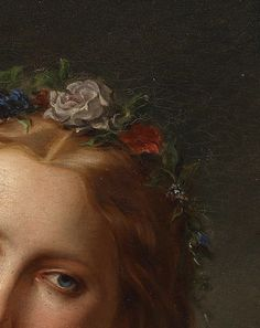 greuze:  Unknown Artist, Daydreaming (Detail), 19th Century