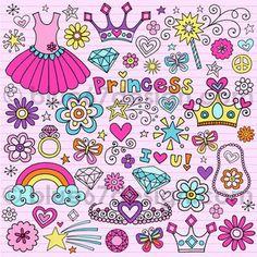 Cute Princess Notebook Doodle
