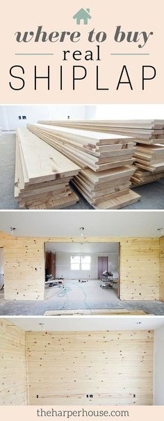Are you stumped on where to buy real shiplap? I'm sharing our sources today on the blog!   The Harper House