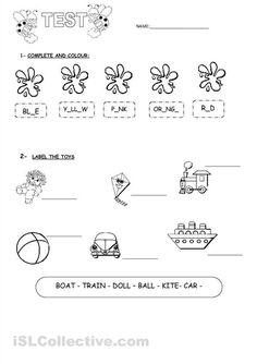 toys worksheets for kids - Pesquisa Google