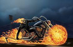 Ghost Rider by David Ocampo Ghost Rider 2007, Ghost Rider Marvel, Marvel Comics Art, Marvel Heroes, Ghost Rider Wallpaper, David Mann Art, Spirit Of Vengeance, Dark Horse, Deviantart