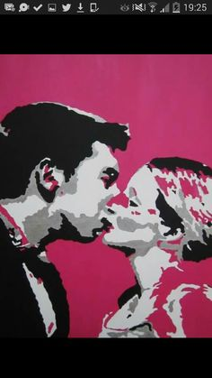 Commissioned acrylic on canvas as a wedding present by CR.
