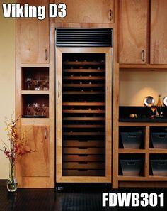 Viking D3 FDWB301 Rustic Kitchen Cabinets, Kitchen Decor, Wine Display, Home Kitchens, Coastal Kitchens, Wine Fridge, Wine And Beer, Tall Cabinet Storage, Wine Storage