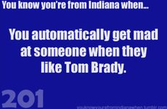 Tom Brady lovers are not welcome in my house.