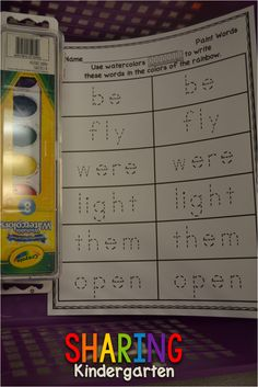 Live, Love, Laugh Everyday in Kindergarten: Sight Word Stations