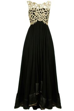Black cut-work anarkali set available only at Pernia's Pop-Up Shop.