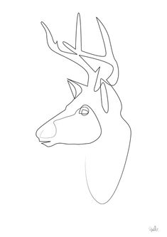 Quibe One Line Minimal Illustrations - Stag
