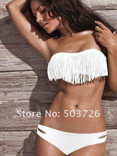Sexy Lady Padded Boho Fringe Bandeau Top Strapless Dolly Bikini Set Swimwear   Confira um novo artigo em http://importarroupas.blog.br/products/sexy-lady-padded-boho-fringe-bandeau-top-strapless-dolly-bikini-set-swimwear/