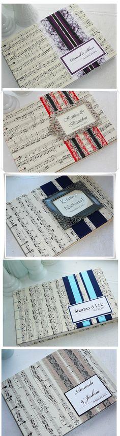 #libro de #firmas para #bodas #musicales