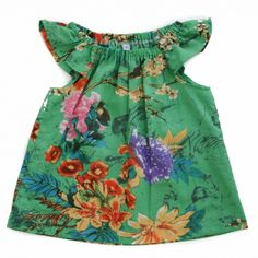 Handmade in Australia for your little girl. Made from cotton voile fabric. This fabric is beautifully light and has a lovely drape and feel. Featuring flutter sleeves and a soft elastic neckline. Flutter Sleeve Top, Little Girls, Tunic, Neckline, Australia, Summer Dresses, Sleeves, Fabric, Cotton