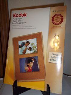 Kodak 191-2369 Glossy Photo Paper 8.5 x 11  25 Sheets Instant Dry   #Kodak