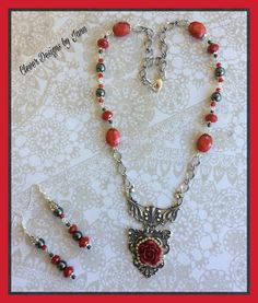 FUF 11/11 .. Victorian Style Necklace Set .. Clever Designs by Jann .. https://www.etsy.com/shop/CleverDesignsbyJann