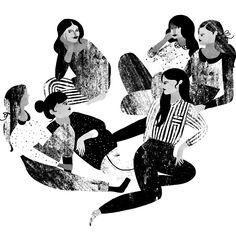 Love this illustration of girlfriends hanging out! karolin schnoor