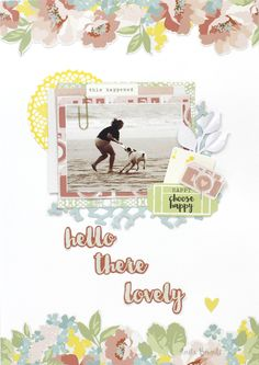 Hello There Lovely Layout By Anita Bownds Dress Card, Scrapbook Paper, Scrapbooking, Scrapbook Layouts, Shaped Cards, Finders Keepers, Paper Clip, Love Is All, Paper Crafts