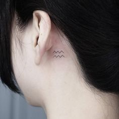 Aquarius Zodiac symbol on the back of the left ear., Click web site other content Dainty Tattoos, Baby Tattoos, Symbolic Tattoos, Mini Tattoos, Small Tattoos, Tatuajes Harry Styles, Harry Styles Tattoos, Sleeve Tattoos For Women, Tattoos For Guys