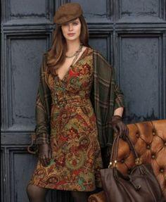 Lauren Ralph Lauren Plus Size Cap-Sleeve Paisley-Print Faux-Wrap Jersey Dress