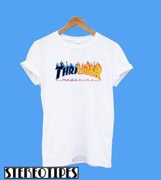 60272f137d4 Thrasher Rainbow Style T-Shirt